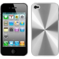 Insten Silver Cosmo Back Case For iPhone 4 4S