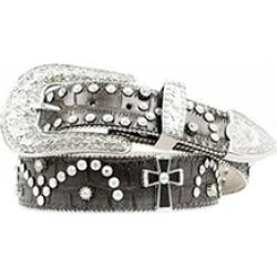 Nocona Belt N3499601-L 1.5 in. Womens Cross Concho Studded Leather Belt Black -