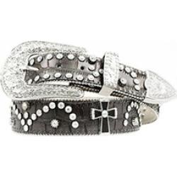 Nocona Belt N3499601-M 1.5 in. Womens Cross Concho Studded Leather Belt Black -