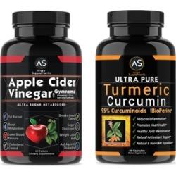 Supplement apple cider vinegar and turmeric curcumin cover: 2 packs