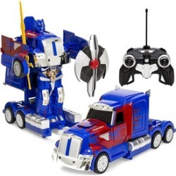 MZ Transforming RC Semi-Truck RC Toy w/ Dance Mod Music Sword Shield
