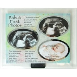 Baby's First Photos Glass Picture Frame