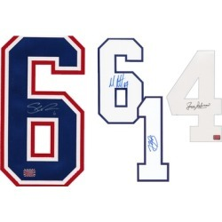 Montreal Canadiens NHL Authentic Autographed Jersey Numbers