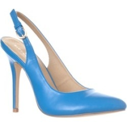Riverberry 'Lucy' Pointed-Toe Sling Back Pump Heels, Blue PU