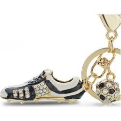 Crystal Football Soccer Shoes Rhinestone Key chain