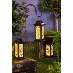 Fluttering Garden Friends Solar Lantern, 3 set
