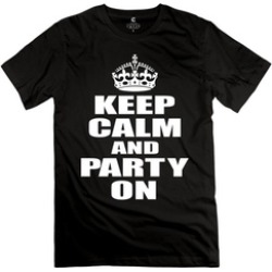 Ytaze Men's Keep Calm And Party Ons Adult Tee