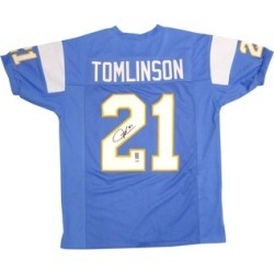 Autographed LaDainian Tomlinson San Diego Chargers Blue Custom Jersey