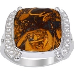 Orchid Jewelry 925 Sterling Silver 9 Carat Mariam Jasper Ring