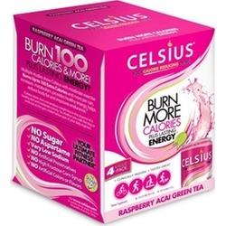 Celsius Drink Raspberry Acai Green Tea - 4/12 oz