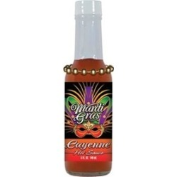 Hot Sauce Harrys MG1151 HSH Mardi Gras Cayenne Hot Sauce with Beads - 5oz
