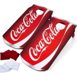 Coca Cola Can Cornhole Set Bean Bag Toss Backyard Game Portable Handle