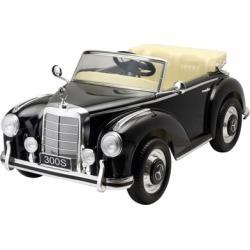 Ride On Toys Electric Retro Car Mercedes 300s Black RC 12v - black