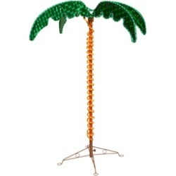 4.5' Deluxe Tropical Holographic LED Rope Lighted Palm Tree