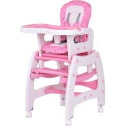 Costway 3 in 1 Baby High Chair Convertible Play Table Seat Feeding