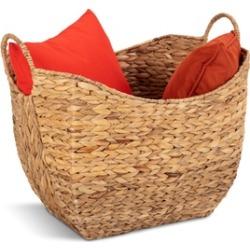 Costway Large Woven Seagrass Storage Basket Wicker Pattern Baskets