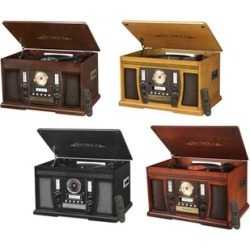Victrola Wood 7/1 Bluetooth Record Player with CD and 3-Speed Turntable