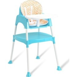 Costway 3 in 1 Baby High Chair Convertible Table Seat FeedingHighchair