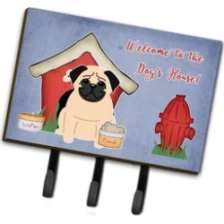 Carolines Treasures BB2762TH68 Dog House Collection Pug Fawn Leash or Key Holder