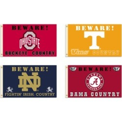BSI Products Inc. NCAA 3'x5' Beware Team Country Flags