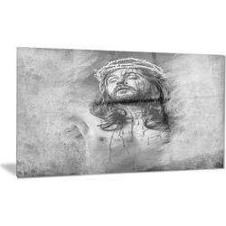 Jesus Christ Portrait Digital Art Metal Wall Art 28x12
