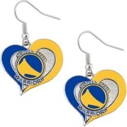 Sports Team Logo Swirl Heart Dangle Earring Set NBA Charm Gift