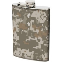 Stainless Steel Flask with Digital Camo Wrap