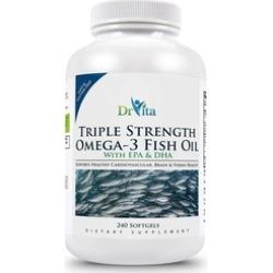 DrVita Triple Strength Omega-3 Fish Oil with EPA & DHA - 240 Softgels