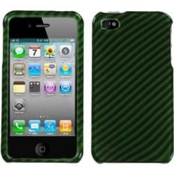 Insten Racing Fiber/Dr Green (2D Silver) Case For iPhone 4 4S