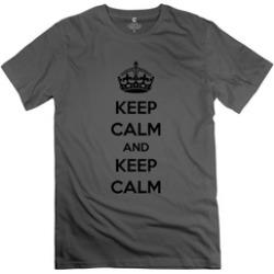 Ytaze Keep Calm Keep Calm Deep HeatherFor Men Adult Tee