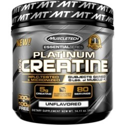 MuscleTech Platinum 100% Creatine, Ultra-Pure Micronized Creatine