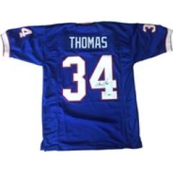 Autographed Thurman Thomas Buffalo Bills Custom Jersey Blue FHS186