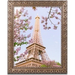 Ariane Moshayedi 'Eiffel Tower in Spring' Ornate Framed Art found on Bargain Bro India from groupon for $50.99