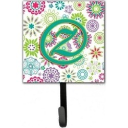 Carolines Treasures CJ2011-ZSH4 Letter Z Flowers Pink Teal Green Initial Leash