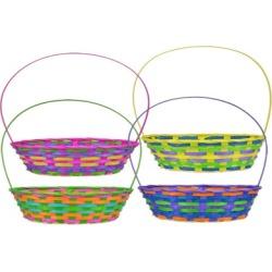 "12"" Rainbow Bamboo Easter Baskets (1 Dozen)"