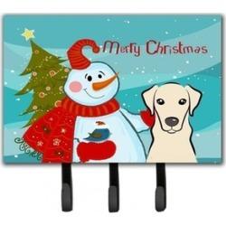 Carolines Treasures BB1842TH68 Snowman With Yellow Labrador Leash & Key Holder