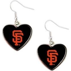 Sports Team Logo MLB Heart Shape Dangle Logo Earring Set Charm Gift(Not Swirl)