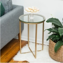 """WE Furniture Home Accessories 16"""" Round Side Table"""