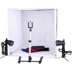 Mini Photo Studio Lighting Kit More Shelves & Camera Tripod