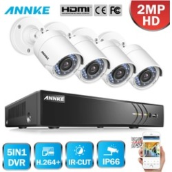 ANNKE 8CH 1080P HD 2MP Indoor Outdoor Home Security Camera System