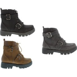 Moca Woman's Lace Up with Buckle Boots