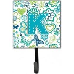 Carolines Treasures CJ2006-KSH4 Letter K Flowers And Butterflies Teal Blue Leash