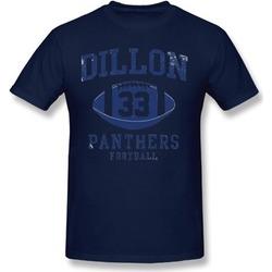 Jonatee Mens Dillon 33 Panthers Football Navy Tee