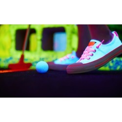 Three Games of Glow-in-the-Dark Mini Golf for Two, Four, or Six at Lunar Golf (Up to 53% Off)
