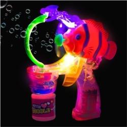 Clown Fish LED and Light - Up Bubble Gun