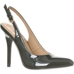 Riverberry 'Lucy' Pointed-Toe Sling Back Pump Heels, Black Patent