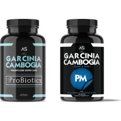 Angry Supplements Garcinia Cambogia PM and with Probiotics (2-Pack)