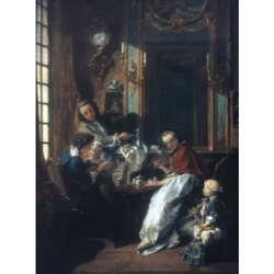 Boucher Le Dejeuner Nor The Afternoon Meal. OilNon Canvas 1739. Poster Print by