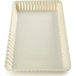 Fineline Settings 294-WH Flairware 9 in. x 13 in. White Serving Tray