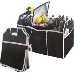 Folding Caddy Car Truck Storage Bin Bag Collapsible Box for Automobile Black